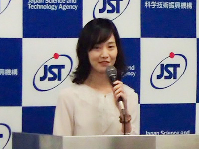 Photo: Simabayashi, Deputy Manager of JST