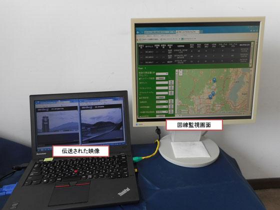 図4 京都市役所基地局でのモニタ画面