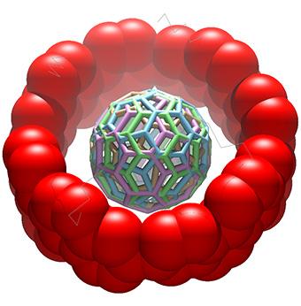 図3 分子ベアリングの結晶構造(横面)