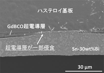 図2 Sn系合金による超伝導層侵食の様子