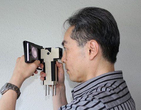 図4 小型自撮り眼底カメラのイメージ