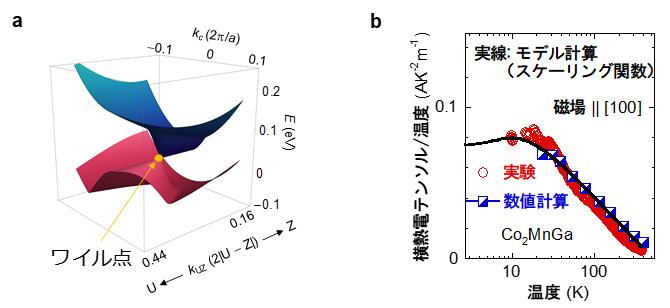 図3 Co2MnGaのワイル点と量子臨界現象
