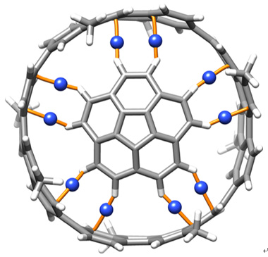 図2 量子化学計算により明かされた「ボウルと筒」の分子ベアリングの姿