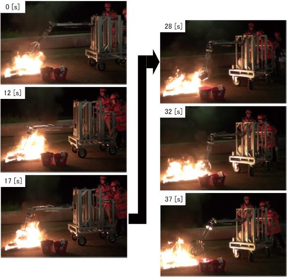 図10 耐火性グリッピング実験全体像