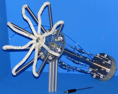 図2 開発した数珠状ロボットハンド機構の外観
