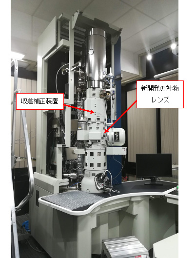 図1 新しく開発した原子分解能磁場フリー電子顕微鏡(MARS)