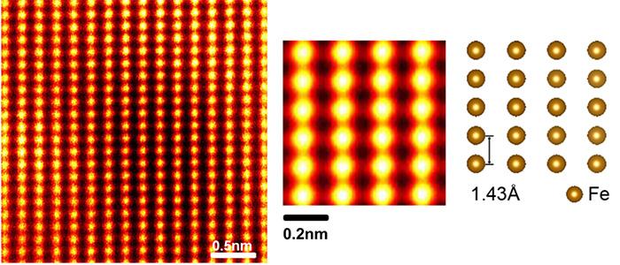 図5 電磁鋼板(Fe-3%Si)結晶中の原子観察例