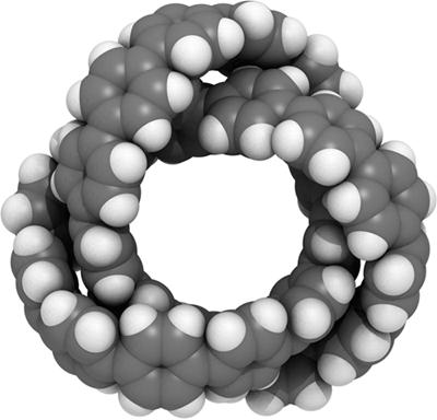 図5 オールベンゼンノットの分子構造
