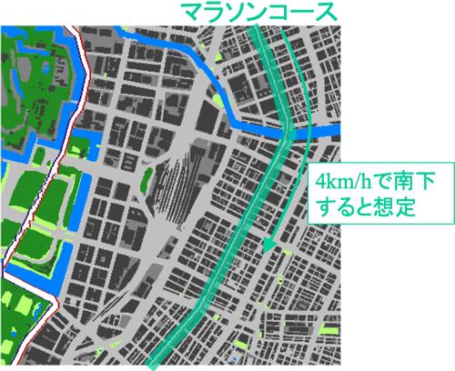 図3 東京オリンピック2020のマラソンコース沿いの通り