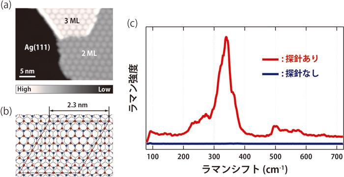 図2 酸化亜鉛超薄膜のTERSスペクトル測定